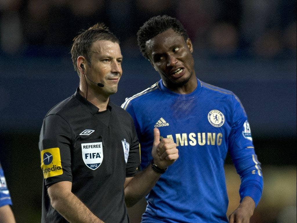 Mark Clattenburg with John Obi Mikel