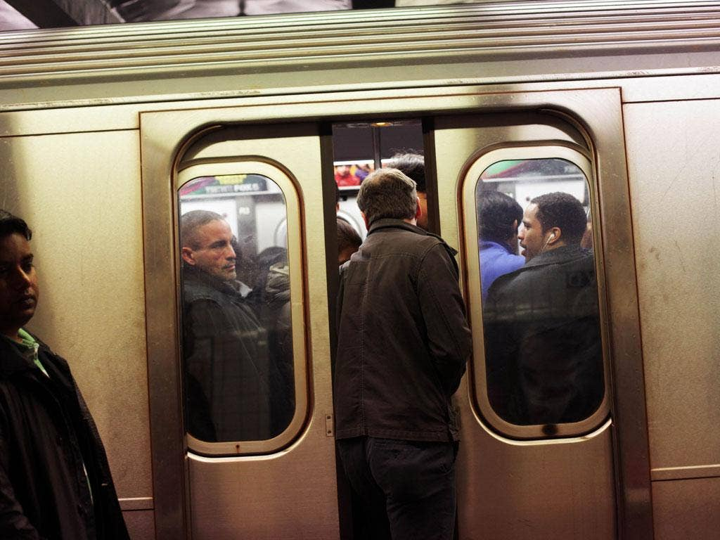 New York's subway system gets back to work yesterday