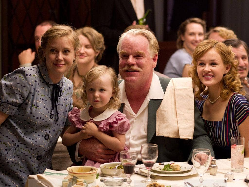 The joy of sects: Amy Adams, Philip Seymour Hoffman and Jillian Bell star in 'The Master'