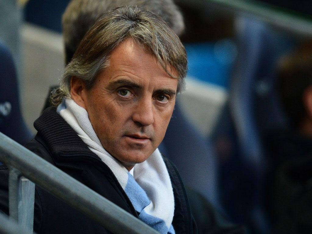Roberto Mancini: The Italian denied he was in talks with other clubs