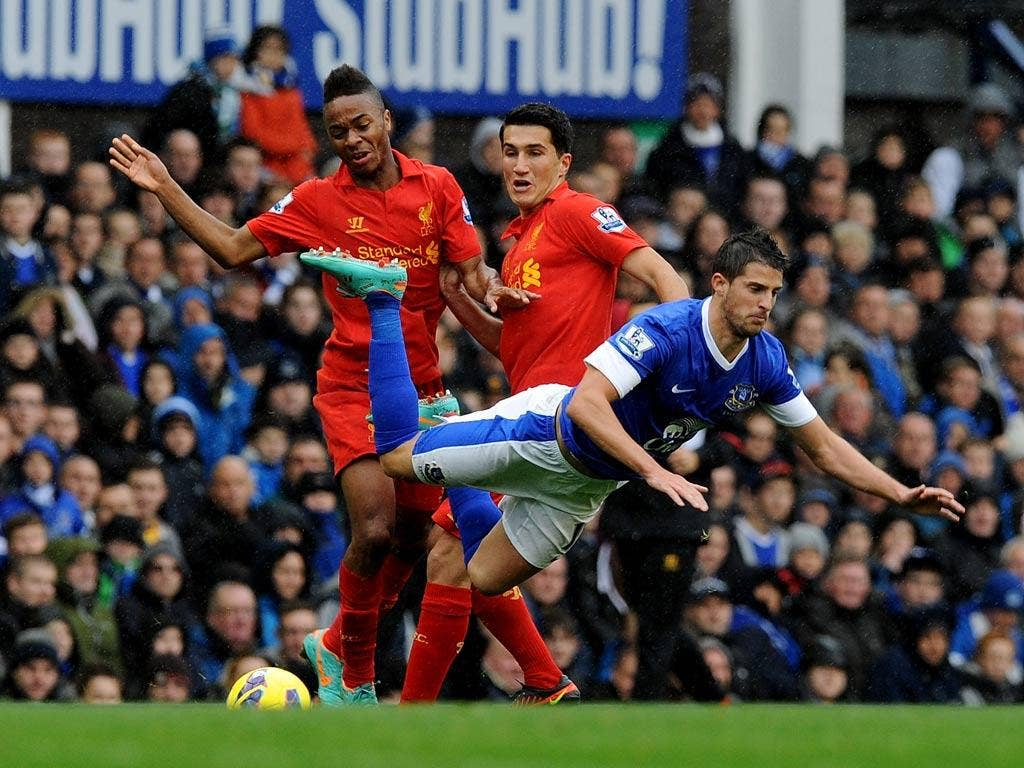 Kevin Mirallas in action against Everton