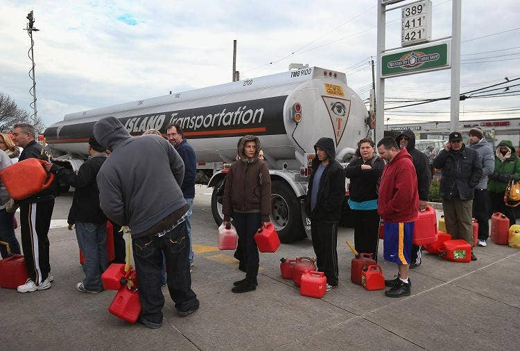 The hunt for gas goes on after Hurricane Sandy