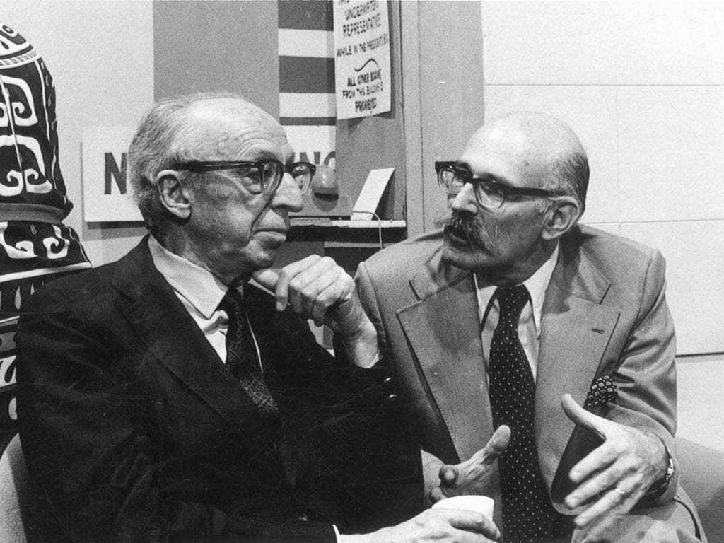 Scott, right, with Aaron Copland in 1974; he recorded classical, pop, jazz and show music
