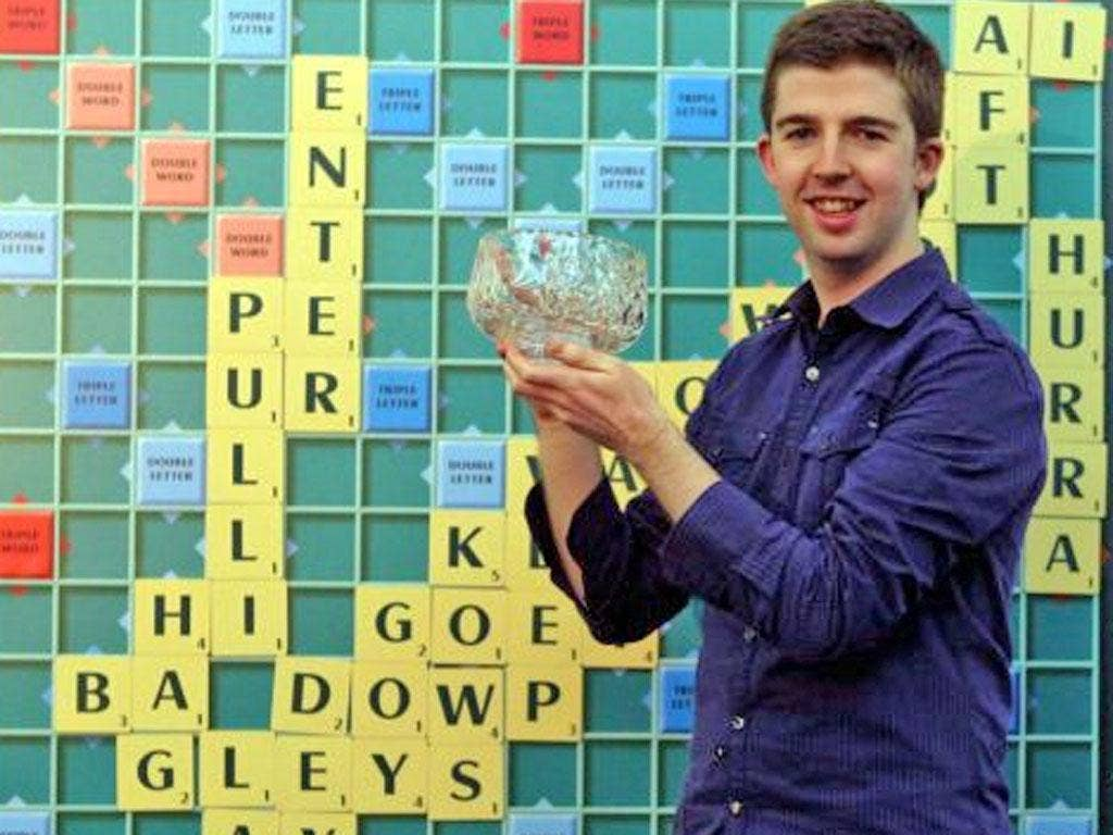 Paul Gallen 26, from Belfast is crowned the 41st national Scrabble champion at the National Scrabble Championships held at the Cavendish Conference Centre in West London, beating Wale Fashina 43, from Liverpool with a score of 3-1