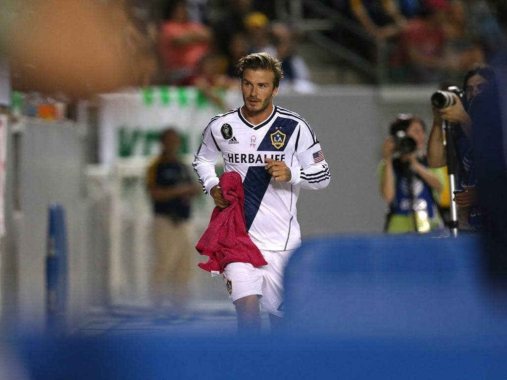 David Beckham of LA Galaxy