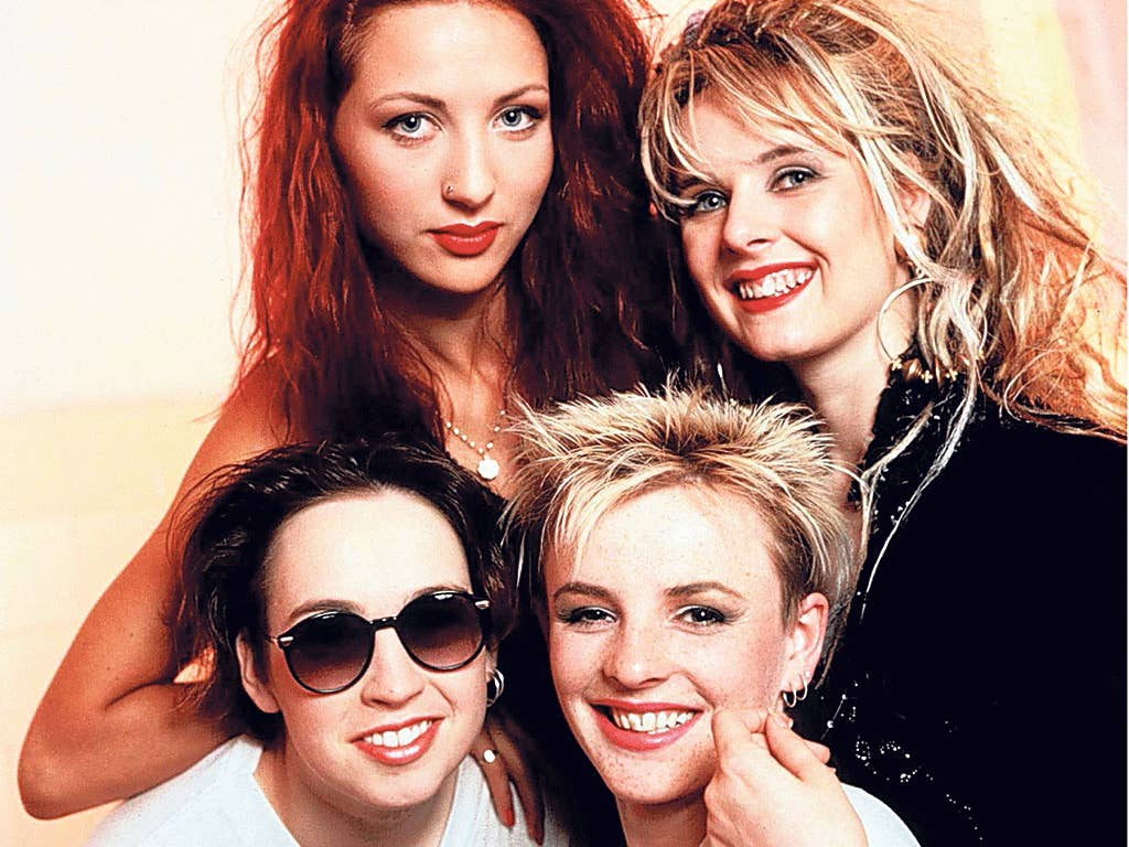 Fuzzbox, clockwise from bottom left: Dunne, Vickie Perks, Maggie Dunne and Tina O'Neill