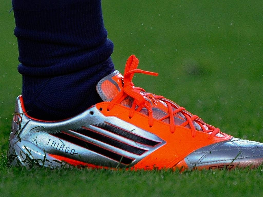 Messi wore customised boots with the name of his son on them