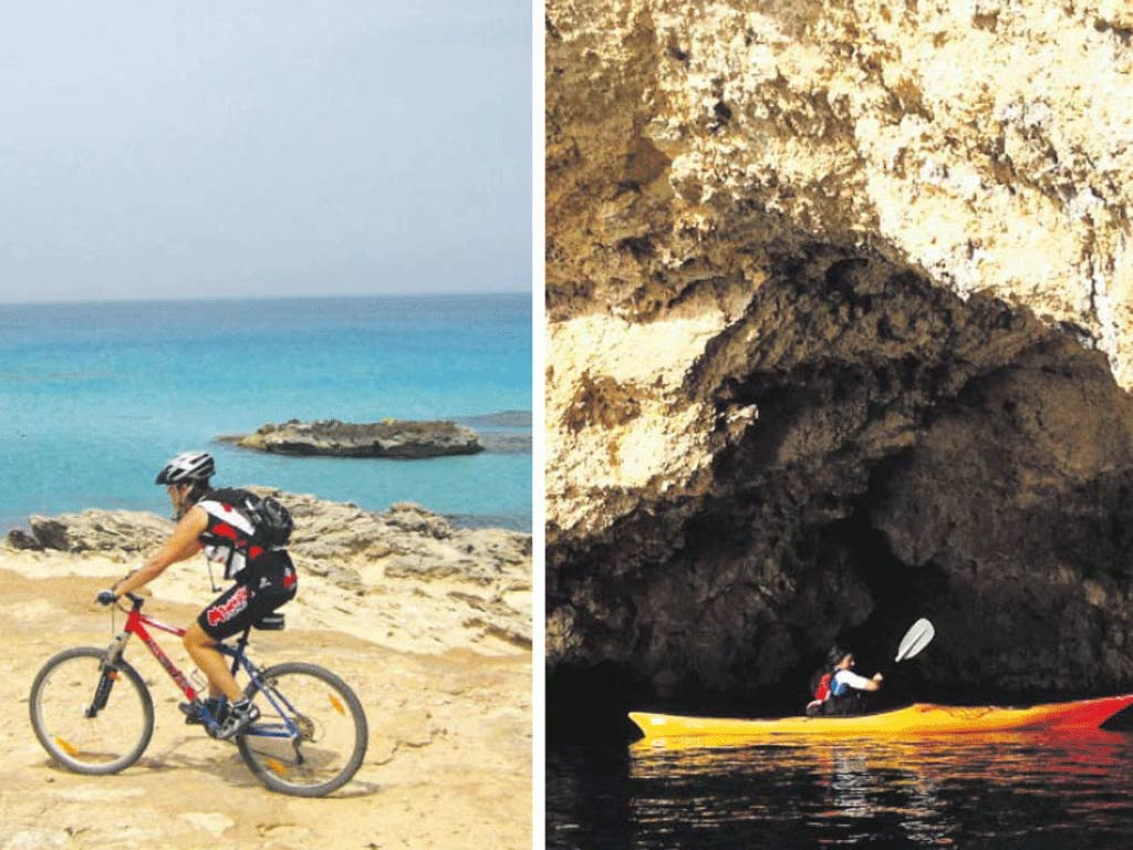 Kayaking and cycling are more enjoyable once the summer crowds have dispersed from the island