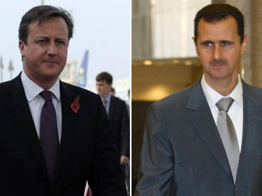 Cameron said the international community should consider anything 'to get that man out [Assad] of the country and to have a safe transition in Syria'
