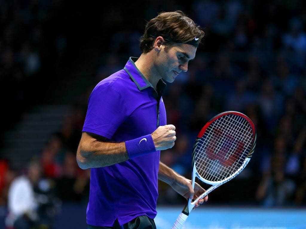 Roger Federer at the ATP World Tour Finals