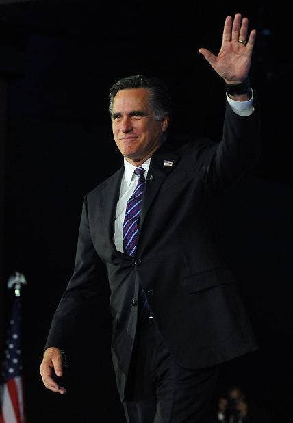 Mitt Romney: Concedes defeat in the presidential election campaign