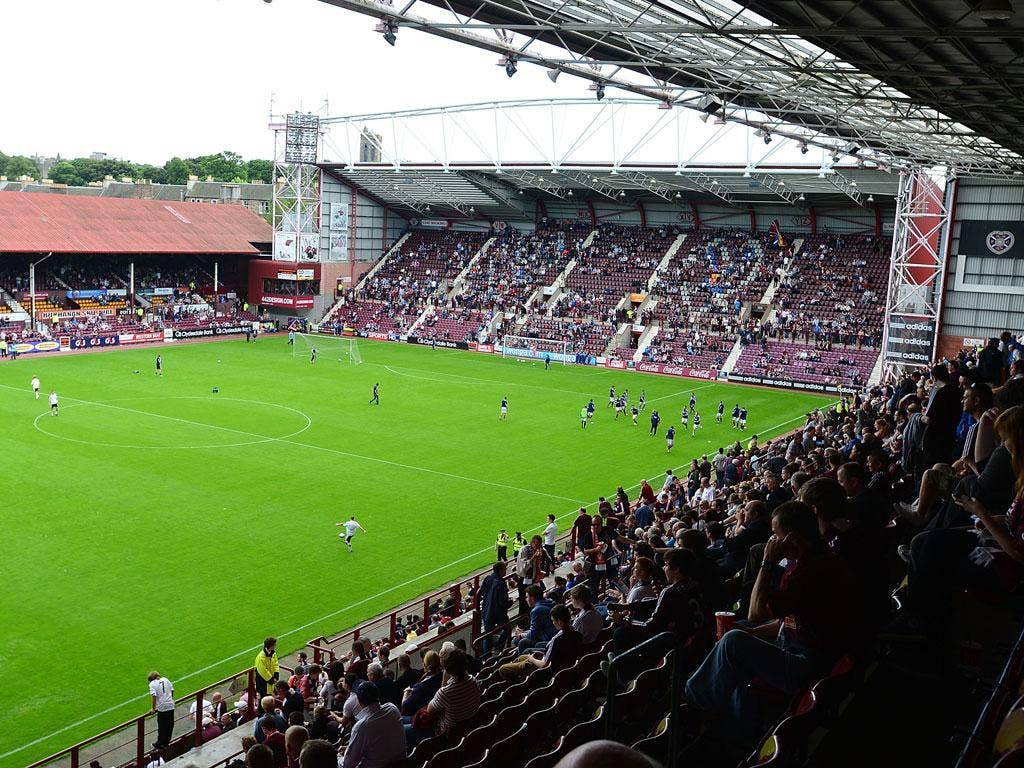 Tynecastle Stadium before the Clydesdale Bank Scottish Premier League match between Hearts and Dundee
