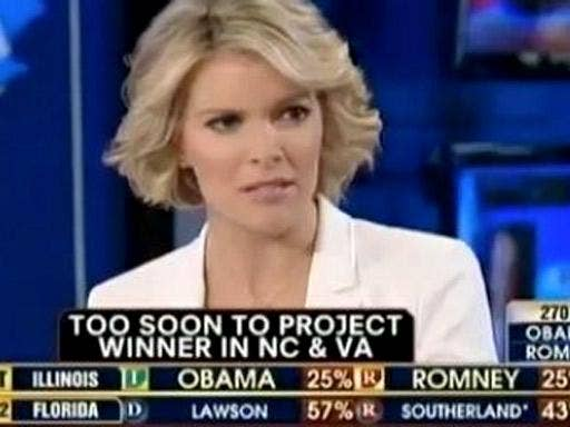 Fox News anchor Megyn Kelly sees that the writing is on the wall