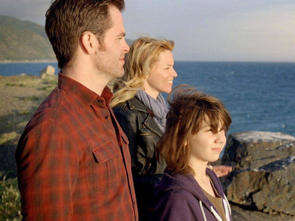 Still waters running shallow: Chris Pine, Elizabeth Banks and Michael D'Addario in 'People Like Us'
