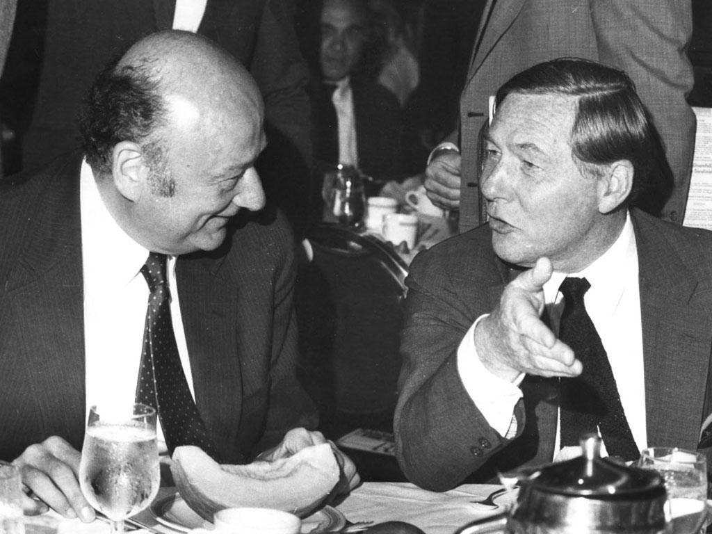 Wood, right, with Ed Koch, the mayor of New York; Koch credited the 'Post' with getting him elected