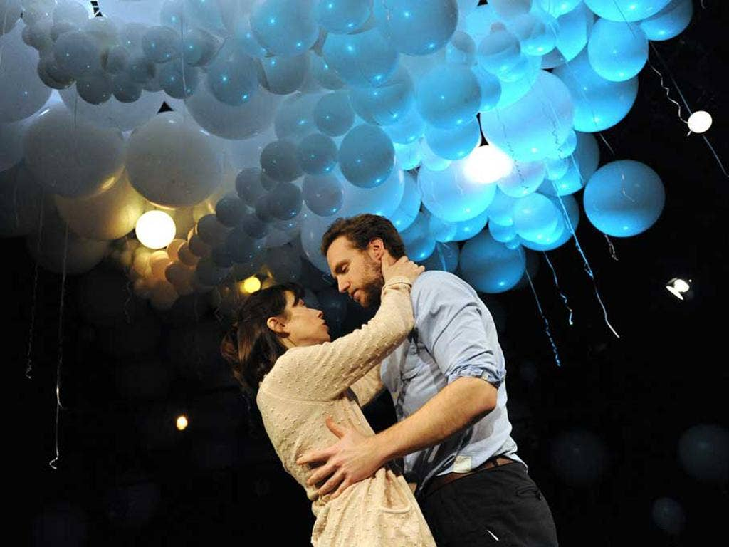 Sally Hawkins with Rafe Spall in Constellations at the Royal Court Theatre