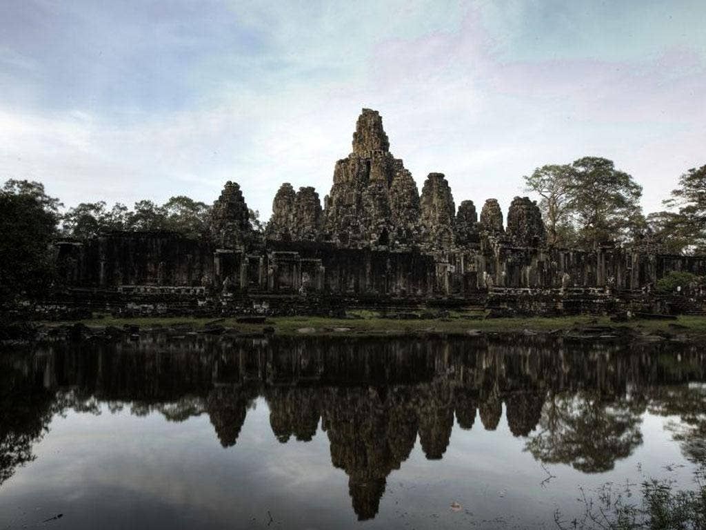 Crowded house: the temples of Angkor can get busy