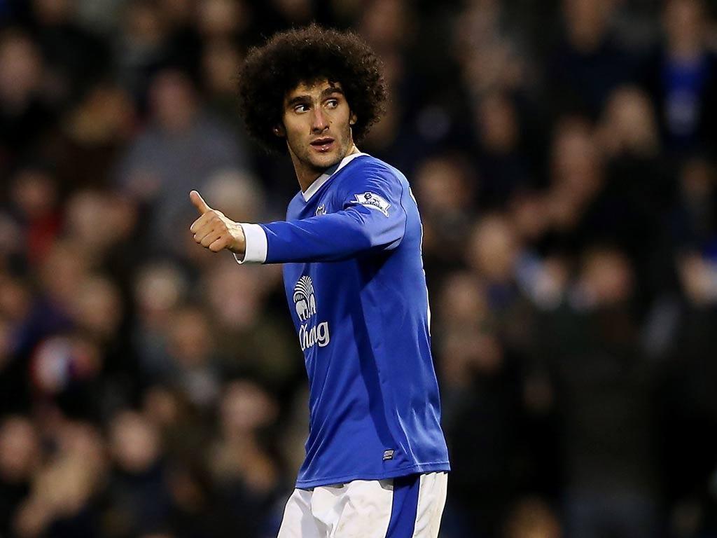 Everton forward Marouane Fellaini
