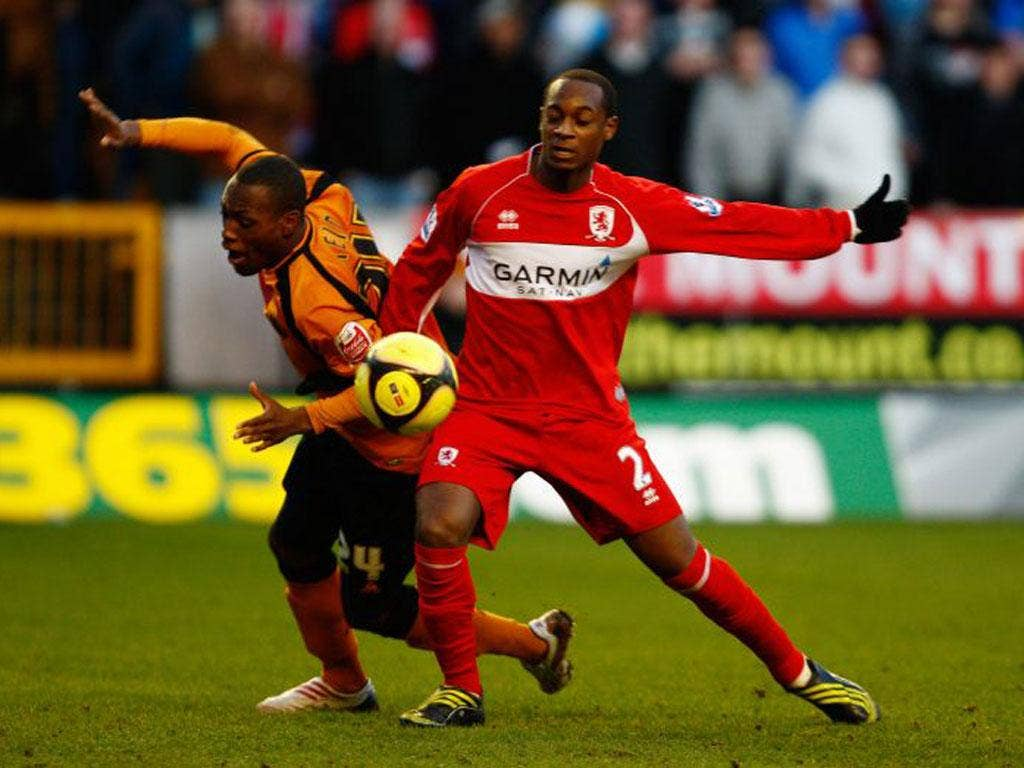 Justin Hoyte gave his side the lead against Wednesday