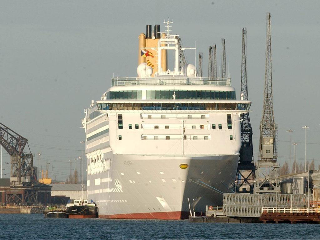 Sail away: P&O's 'Aurora' in Southampton