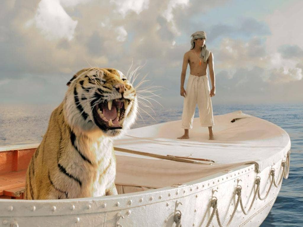 Suraj Sharma stars opposite a CGI tiger in Ang Lee's new film 'Life of Pi'