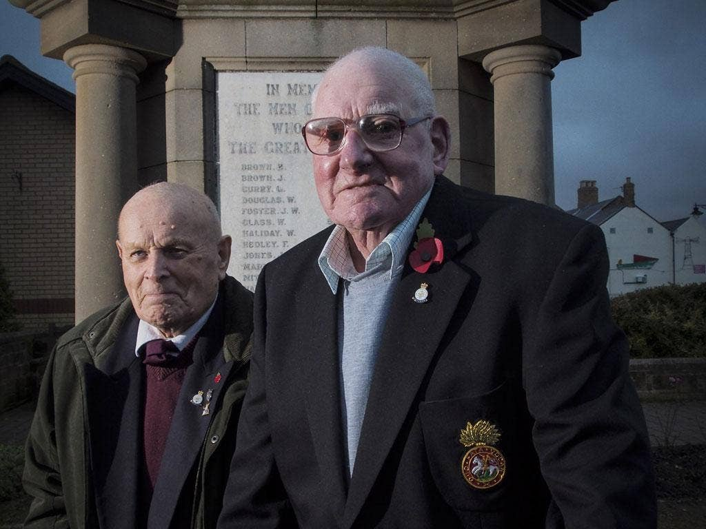 Enduring memories: Eddie Howlett, left, and Clar Hedley, two of the  few survivors of the Burma Railway