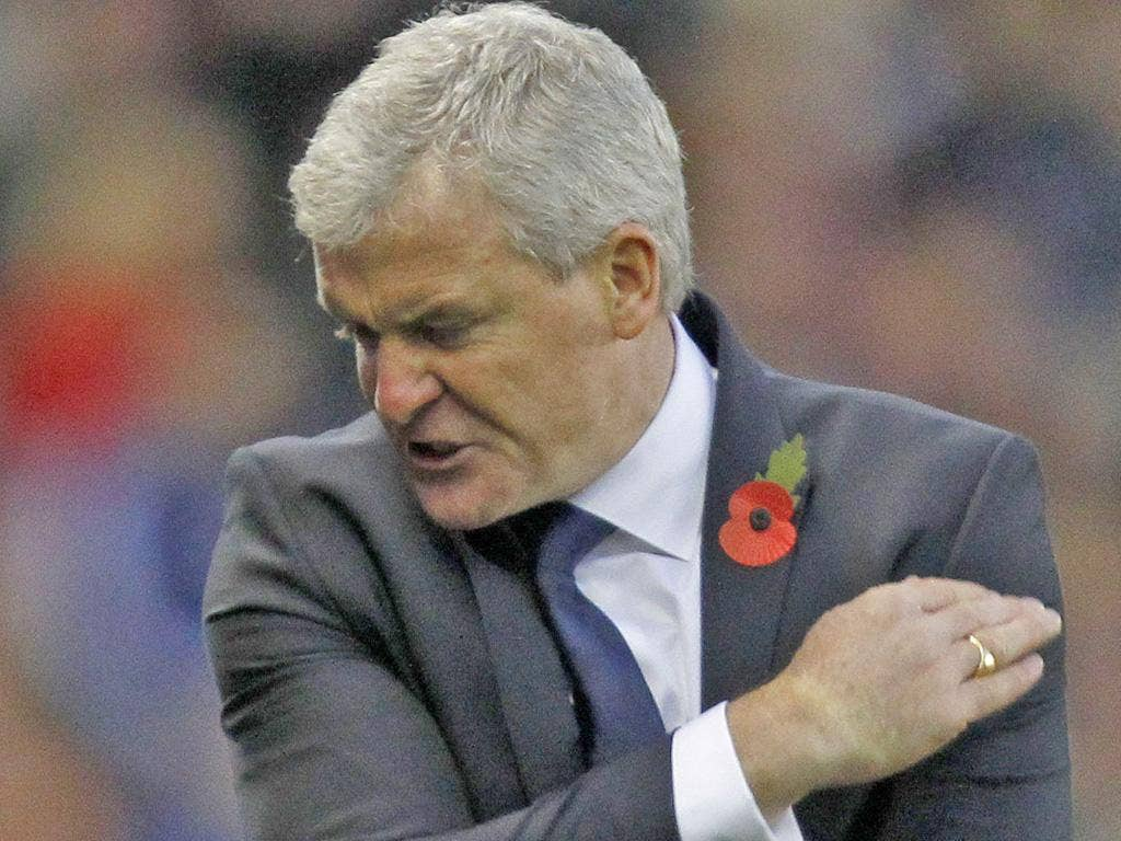 Mark Hughes cannot disguise his frustration against Stoke