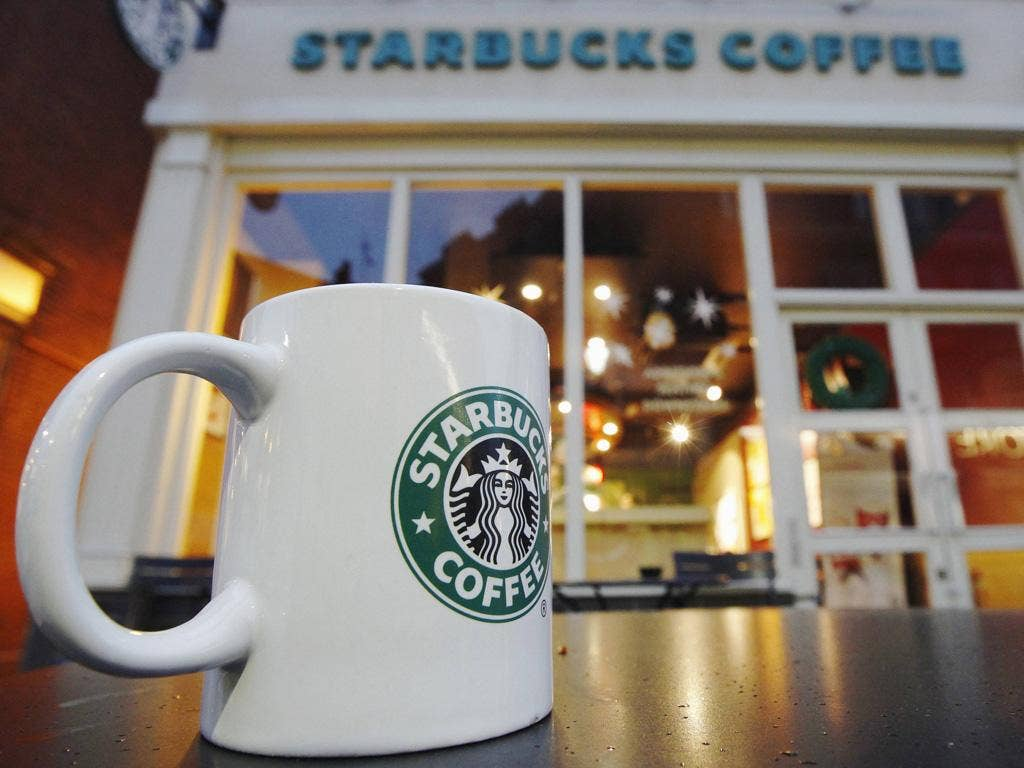 Starbucks: The US coffee company has paid £8m in tax on £3bn in sales during 14 years in the UK