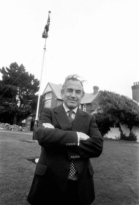 A 1983 photograph of Sir Rex Hunt, governor of the Falkland Islands during the 1982 Argentine invasion, who has died at the age of 86