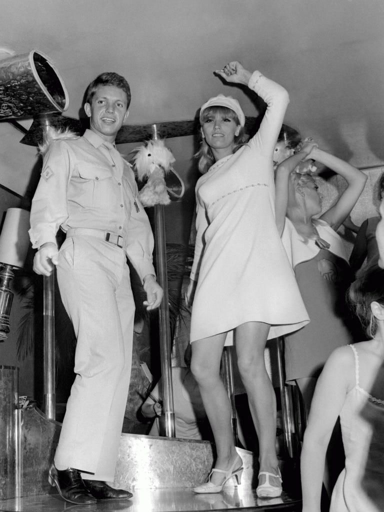Alamo with the singer Gilda Gilles in a Paris cabaret in 1968