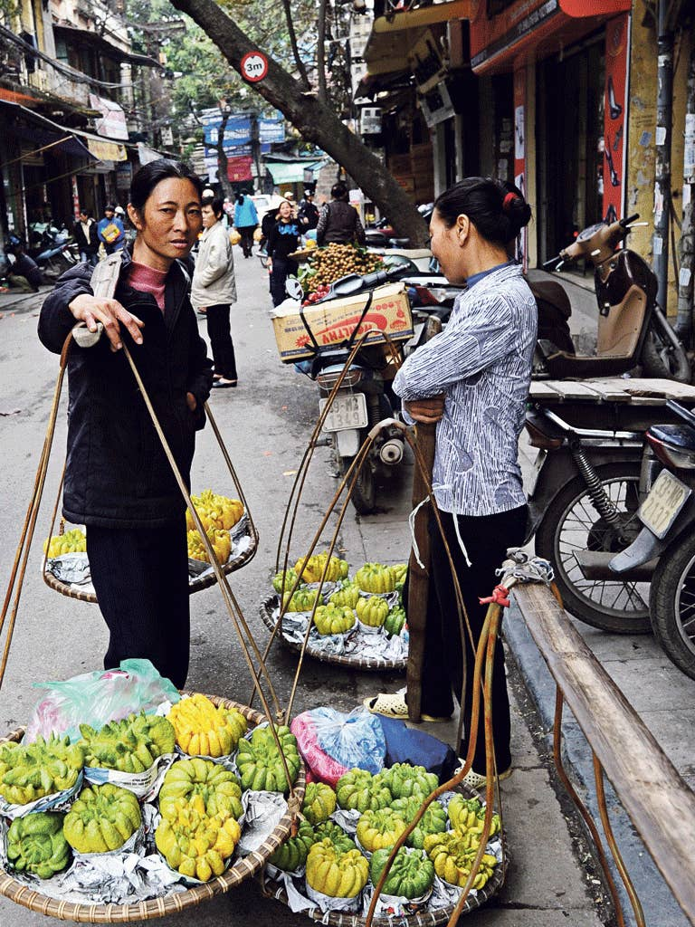 The flavour of the streets: fruit vendors in Hanoi