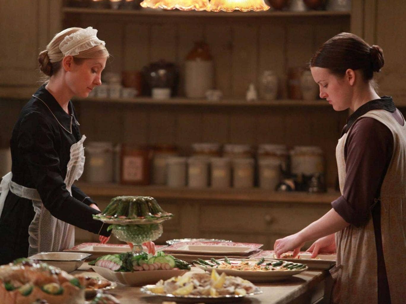 Past masters: few recipes survive from the kitchens of great houses like the one in 'Downton Abbey'