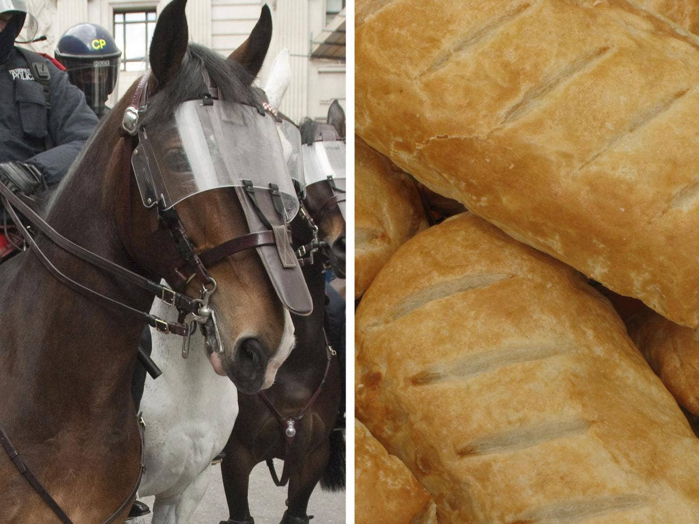 Francis Kelly, was arrested for attempting to share the pastry with the animal because police didn't want the horse to eat it