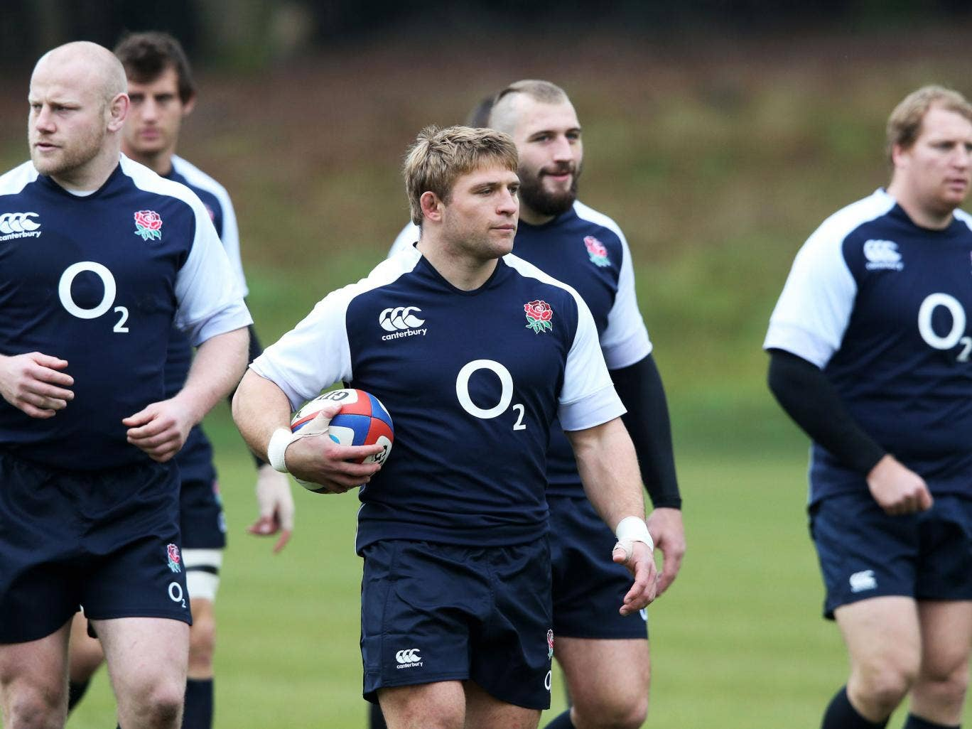 The England team training before their match with Australia