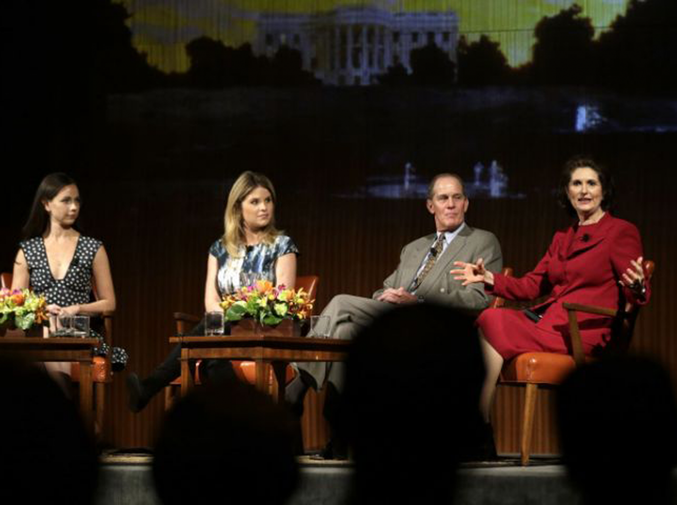 Jenna Bush Hager and Steven Ford at the panel in Texas
