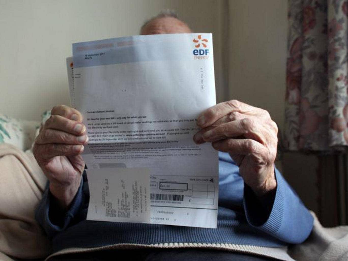 Older people on fixed incomes can struggle to meet the rising cost of their fuel bills