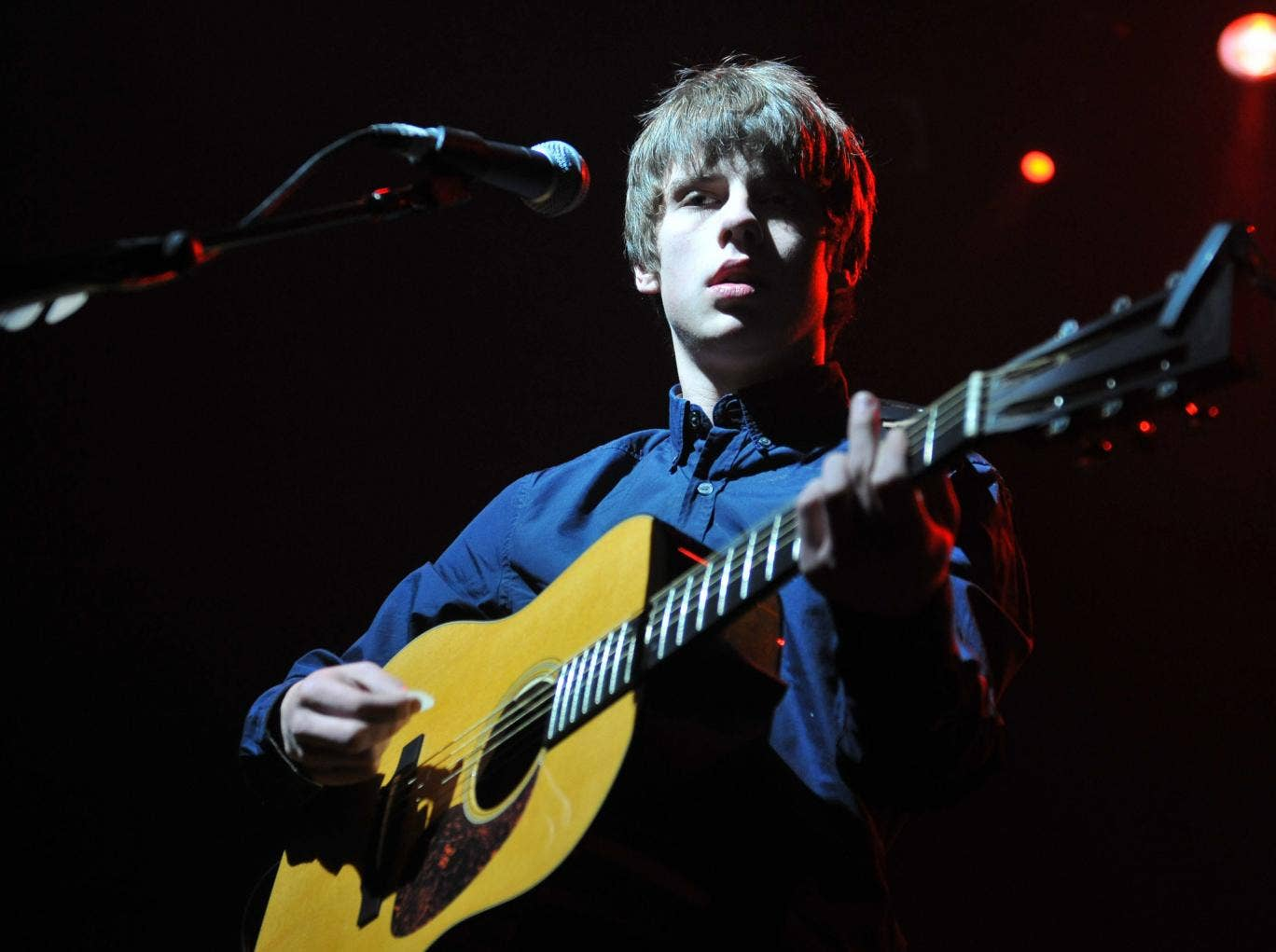 Baby face: At 18, Jake Bugg can hold his guitar the right way up, but that's not enough