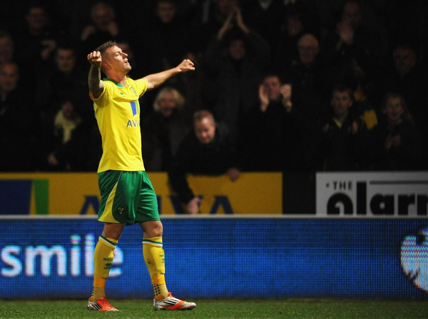 Anthony Pilkington celebrates his winning goal