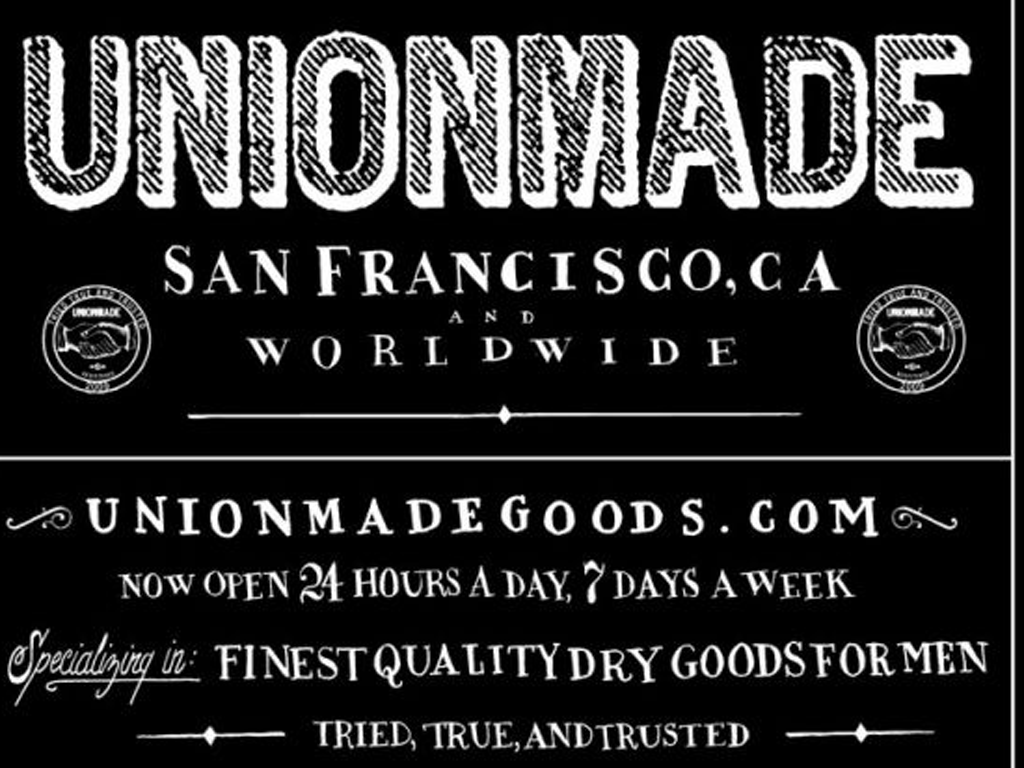 American fashion brand Unionmade is actually not union-made