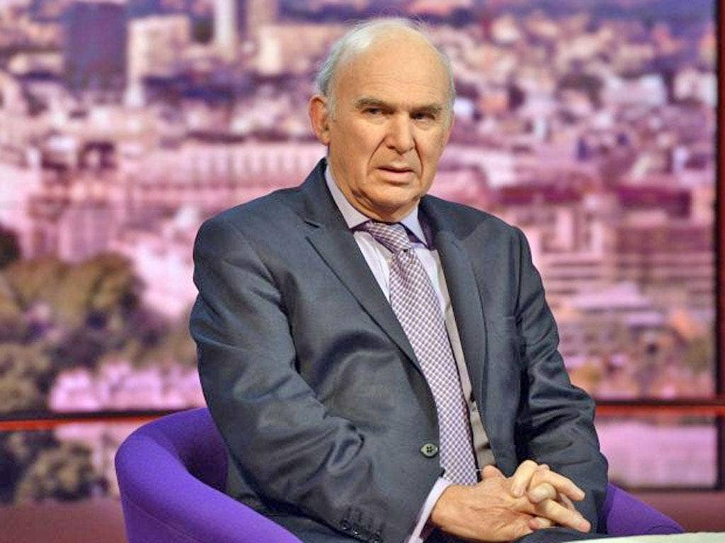 Business Secretary Vince Cable on BBC1's The Andrew Marr Show