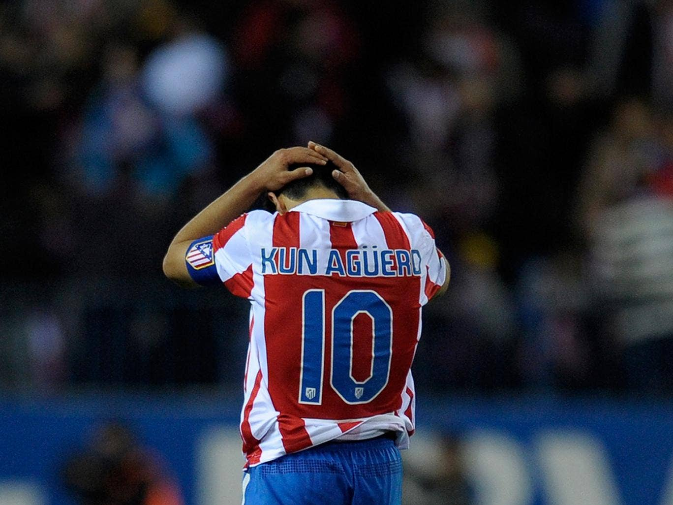 Sergio Aguero spent five years with Atletico Madrid beat failed to secure victory over rivals Real Madrid