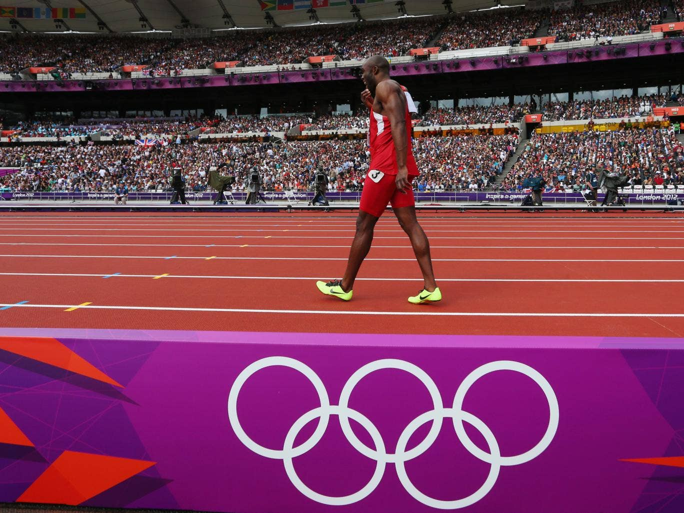 American sprinter LaShawn Merritt was cleared to compete at London 2012 but pulled up in the 400 metres semi-final with a hamstring problem