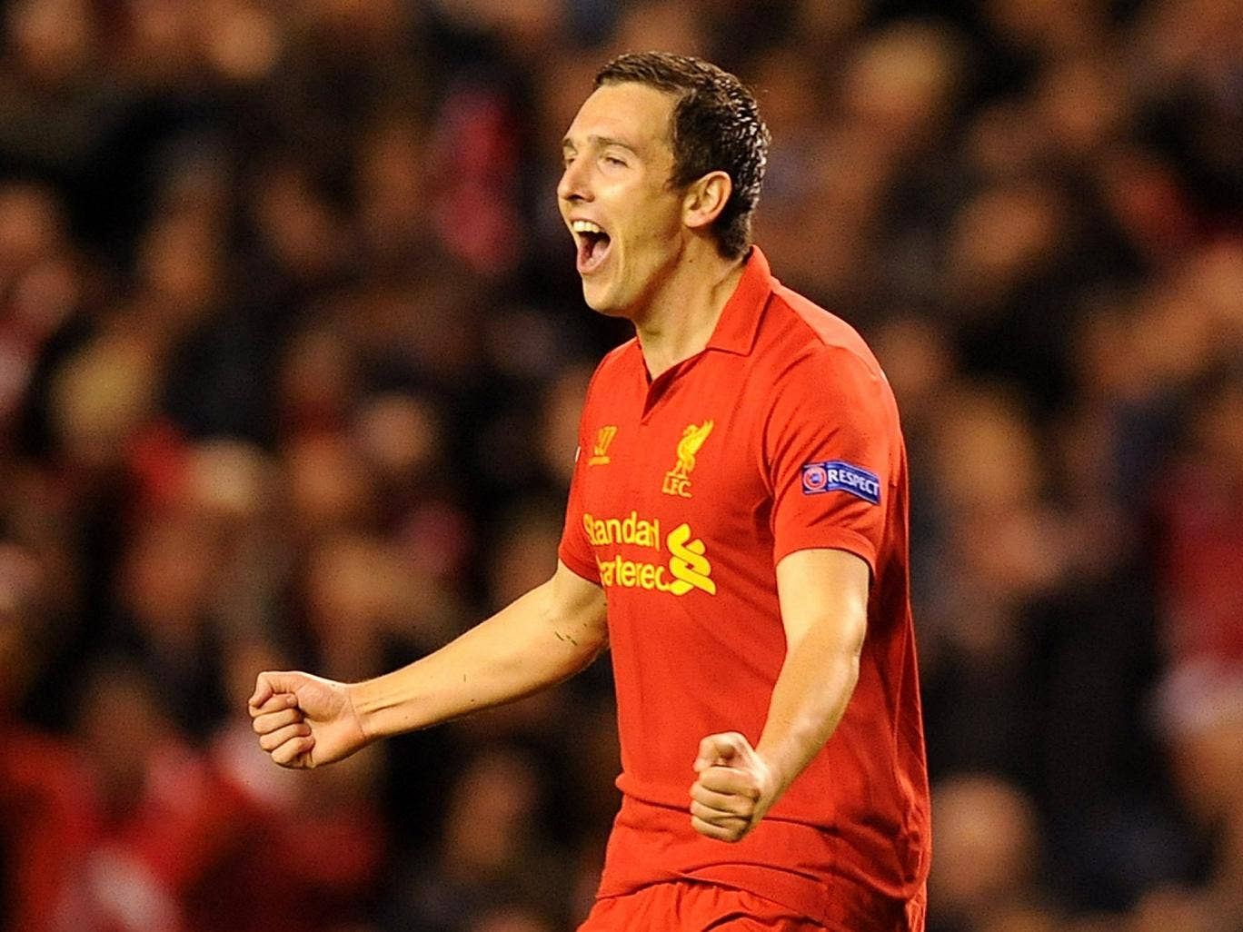 Downing has managed 14 senior appearances this season, mostly in Europe