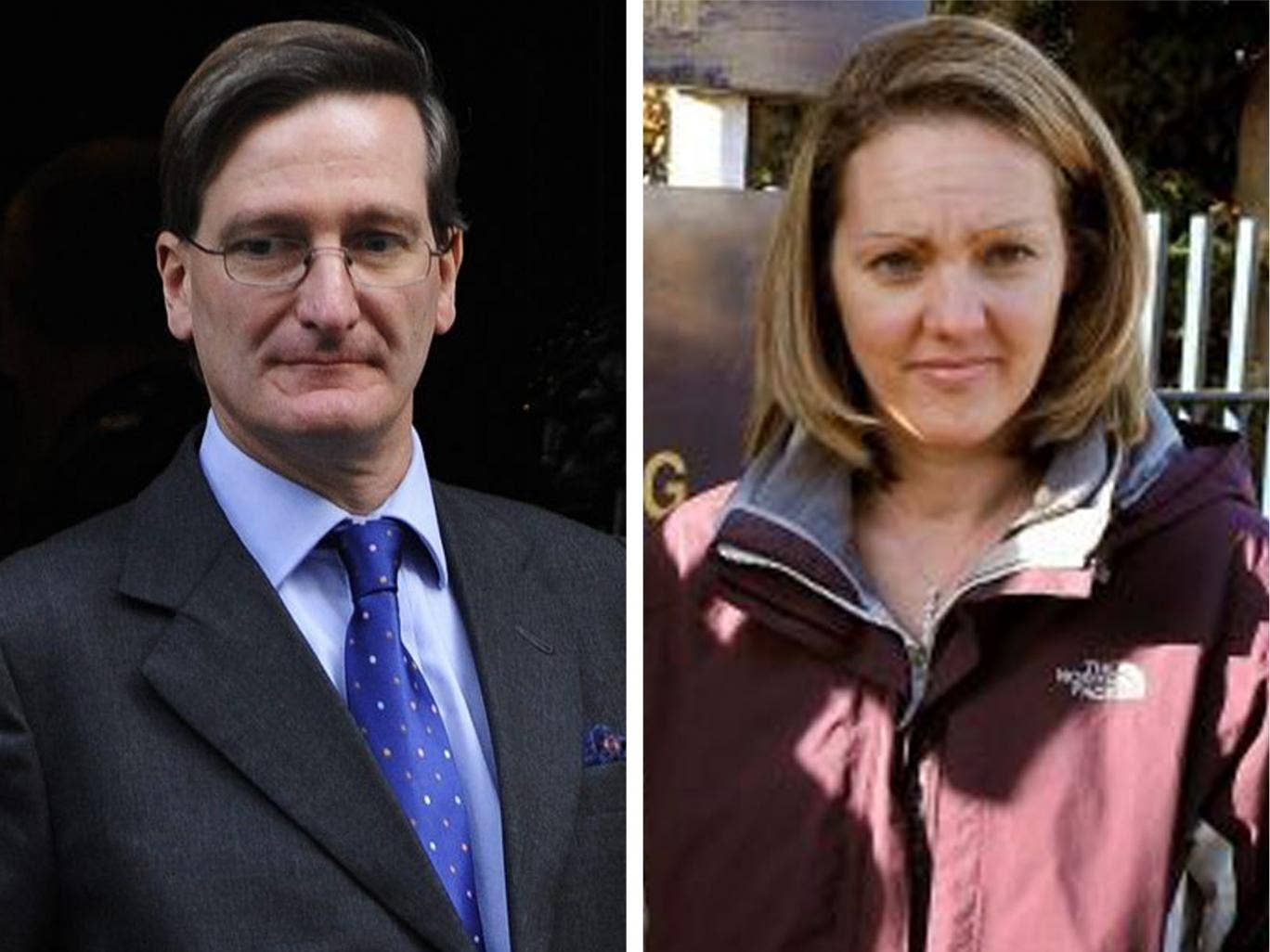 Attroney General Dominic Grieve, left, and Danny Nightingale's wife Sally, who has been campaigning for a review of her husband's sentence