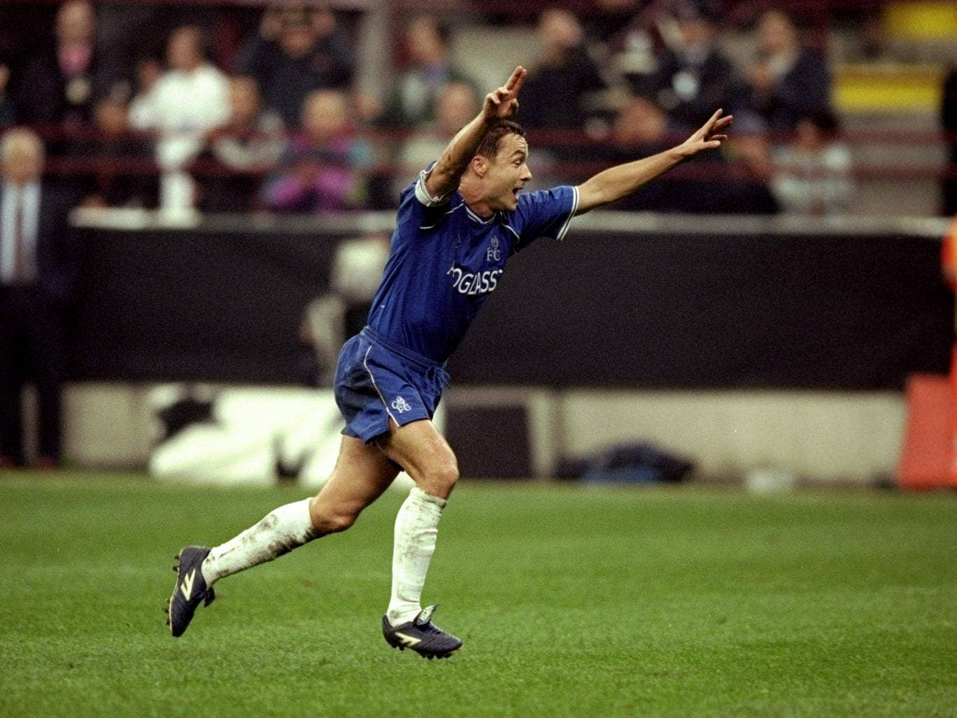 Di Matteo set up Dennis Wise to equalise against AC Milan at the San Siro in 1999