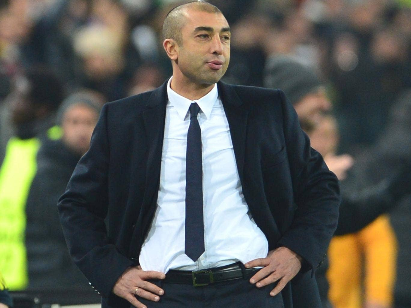 Roberto Di Matteo faces up to defeat in Turin