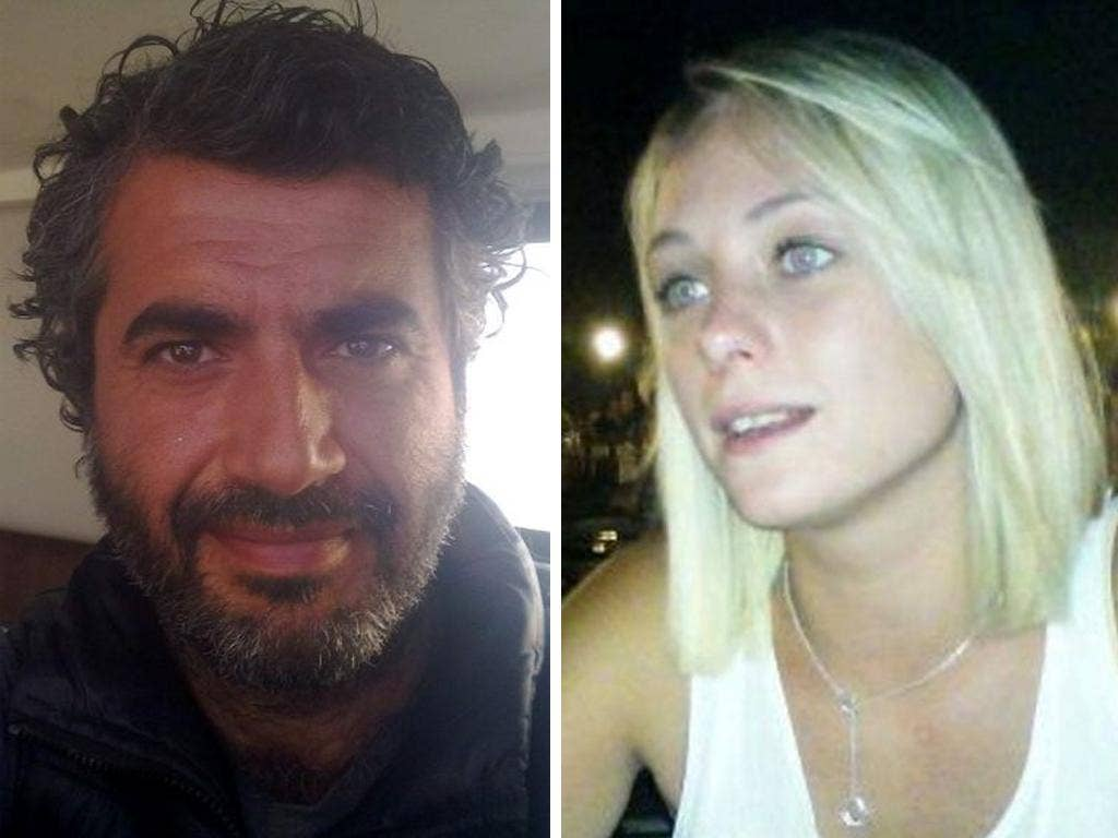 Images taken from Ramazan Culum's website of himself and the blonde Brit reported to be Courtney Murray