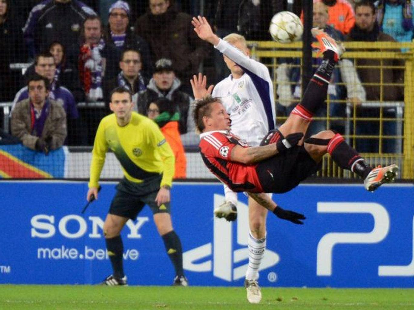 Mexes scores against Anderlecht