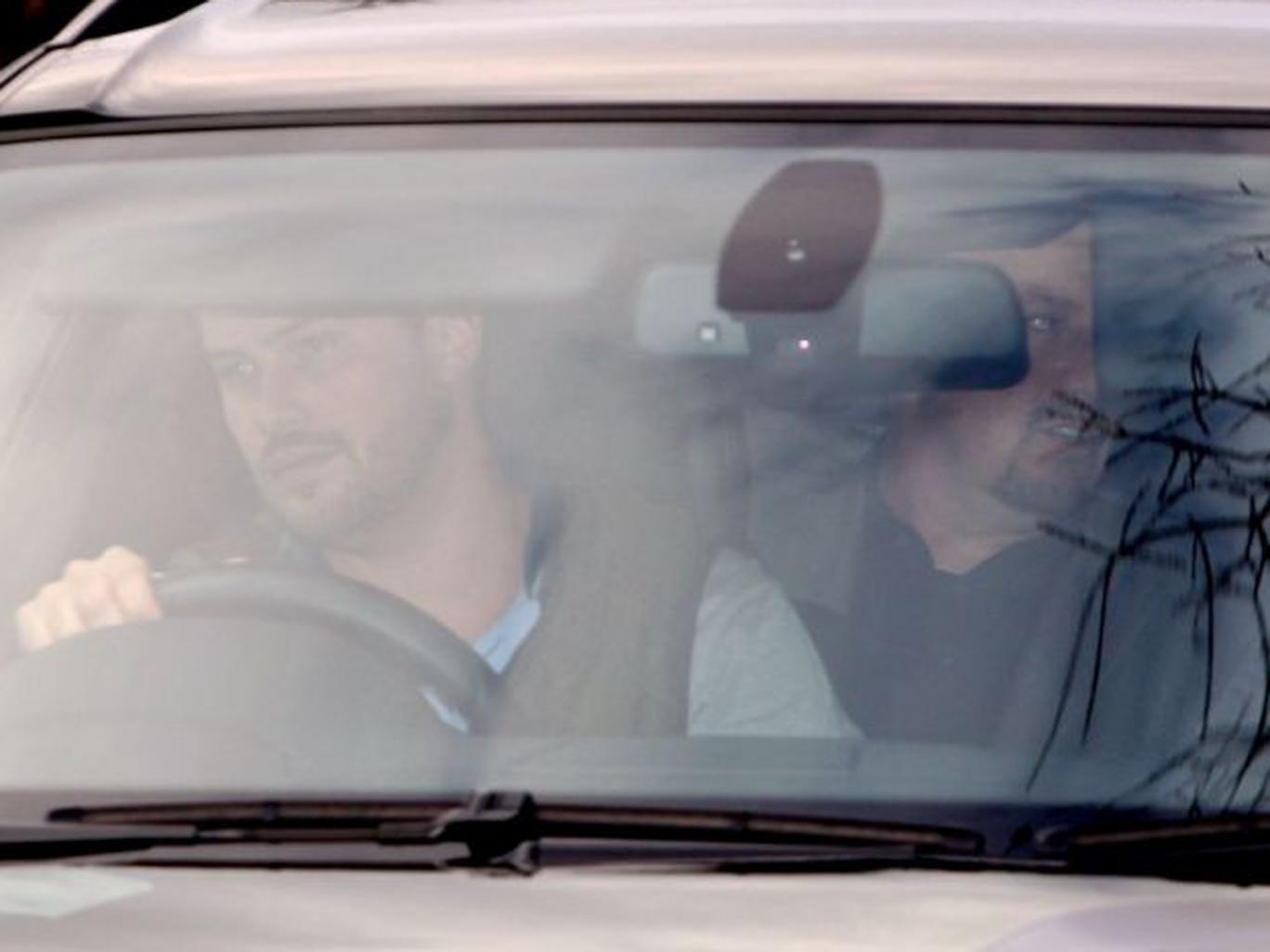 Chelsea's new interim manager Rafael Benitez is driven into Cobham Training Ground