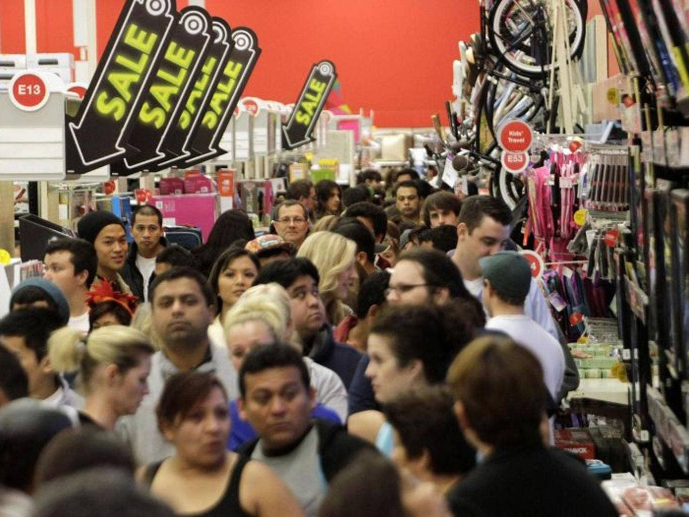 The traditional shopping frenzy takes place the day after Thanksgiving in the US and marks the beginning of the Christmas shopping season, with an estimated 147 million people in the US expected to hit the shops.